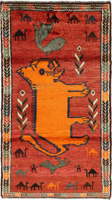 Ghashghai Matta 110X202 Äkta Orientalisk Handknuten Roströd/Orange (Ull, Persien/Iran)