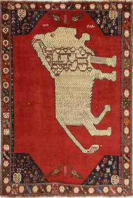 Qashqai Rug 149X224 Authentic  Oriental Handknotted Rust Red/Dark Brown (Wool, Persia/Iran)