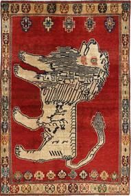 Ghashghai Tapijt 141X209 Echt Oosters Handgeknoopt Roestkleur/Lichtbruin (Wol, Perzië/Iran)