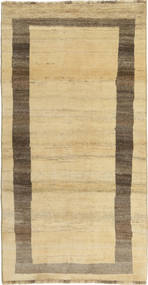 Gabbeh Persia Rug 97X191 Authentic  Modern Handknotted Light Brown/Yellow (Wool, Persia/Iran)