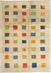 Gabbeh Persa Tapete 125X184 Moderno Feito A Mão Bege/Bege Escuro (Lã, Pérsia/Irão)