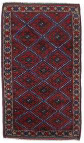 Beluch Tapijt 89X139 Echt Oosters Handgeknoopt Donkerrood/Donkerblauw (Wol, Afghanistan)