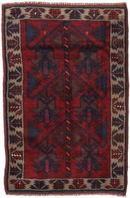 Baluch Rug 86X135 Authentic Oriental Handknotted Dark Green/Dark Red (Wool, Afghanistan)
