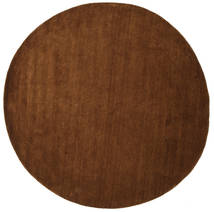 Handloom - Brown Rug Ø 300 Modern Round Brown Large (Wool, India)