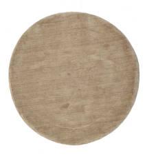 Handloom - Grå Teppe Ø 150 Moderne Rundt Lysbrun (Ull, India)