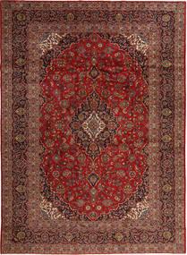 Keshan Matta 296X406 Äkta Orientalisk Handknuten Mörkröd/Ljusbrun Stor (Ull, Persien/Iran)
