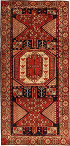 Ardebil Rug 143X303 Authentic  Oriental Handknotted Dark Brown/Rust Red (Wool, Persia/Iran)