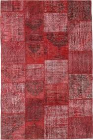 Patchwork Matto 198X301 Moderni Käsinsolmittu Tummanpunainen/Violetti (Villa, Turkki)