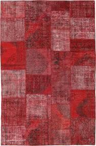 Patchwork Tappeto 197X300 Moderno Fatto A Mano Rosso Scuro/Rosso (Lana, Turchia)