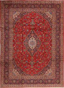 Keshan Koberec 248X350 Orientální Ručně Tkaný Tmavě Červená/Hnědá (Vlna, Persie/Írán)