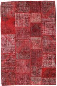 Patchwork Tappeto 197X302 Moderno Fatto A Mano Rosso Scuro/Rosso (Lana, Turchia)