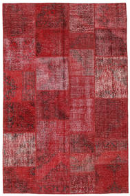 Patchwork Rug 196X301 Authentic  Modern Handknotted Dark Red/Crimson Red (Wool, Turkey)