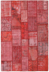 Patchwork Rug 201X300 Authentic  Modern Handknotted Crimson Red/Rust Red/Pink (Wool, Turkey)