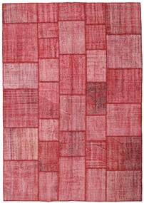 パッチワーク 絨毯 205X295 モダン 手織り 錆色/ピンク (ウール, トルコ)