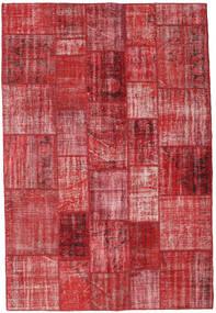 Patchwork Matto 206X304 Moderni Käsinsolmittu Punainen/Ruoste (Villa, Turkki)