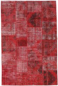 Patchwork Alfombra 200X304 Moderna Hecha A Mano Rojo Oscuro/Roja (Lana, Turquía)