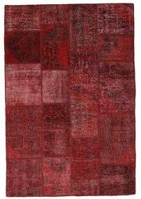 Patchwork Dywan 137X203 Nowoczesny Tkany Ręcznie Ciemnoczerwony (Wełna, Turcja)