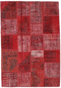 Patchwork Tapis 138X200 Moderne Fait Main Rouge Foncé/Rouge (Laine, Turquie)