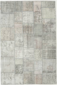 Patchwork Rug 200X302 Authentic  Modern Handknotted Light Grey (Wool, Turkey)