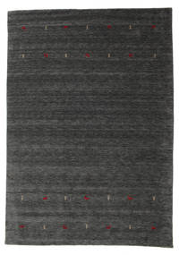 Gabbeh Loom Two Lines - Medium Grey Rug 240X340 Modern Dark Grey/Dark Green (Wool, India)