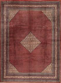 Sarough Mir Vloerkleed 280X385 Echt Oosters Handgeknoopt Donkerrood/Lichtbruin Groot (Wol, Perzië/Iran)