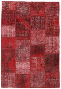 Patchwork Rug 157X233 Authentic  Modern Handknotted Dark Red/Crimson Red (Wool, Turkey)
