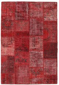 Patchwork Alfombra 157X230 Moderna Hecha A Mano Rojo Oscuro/Roja (Lana, Turquía)