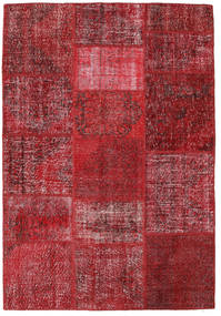 Patchwork Rug 159X231 Authentic  Modern Handknotted Dark Red/Crimson Red (Wool, Turkey)