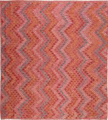 Kelim Afghan Old Style Teppich  258X280 Echter Orientalischer Handgewebter Quadratisch Rost/Rot/Dunkelrot Großer (Wolle, Afghanistan)