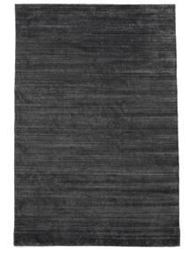 Bamboo シルク ルーム - チャコール 絨毯 200X300 モダン 濃いグレー/紫 ( インド)
