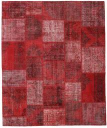 Patchwork Matto 250X302 Moderni Käsinsolmittu Tummanpunainen/Punainen Isot (Villa, Turkki)