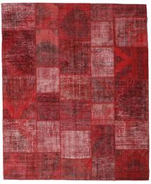 Patchwork Matto 248X301 Moderni Käsinsolmittu Punainen/Tummanpunainen (Villa, Turkki)