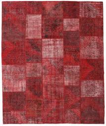 Patchwork Matto 250X301 Moderni Käsinsolmittu Tummanpunainen/Punainen Isot (Villa, Turkki)