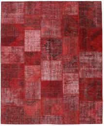 Patchwork Matto 248X302 Moderni Käsinsolmittu Tummanpunainen (Villa, Turkki)