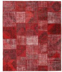 Patchwork Matto 250X300 Moderni Käsinsolmittu Tummanpunainen/Punainen Isot (Villa, Turkki)