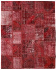 Patchwork Matto 244X304 Moderni Käsinsolmittu Tummanpunainen (Villa, Turkki)