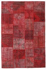Patchwork Tappeto 200X302 Moderno Fatto A Mano Rosso Scuro/Rosso (Lana, Turchia)
