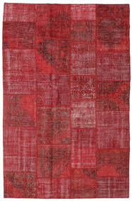Patchwork Alfombra 196X301 Moderna Hecha A Mano Rojo Oscuro/Roja (Lana, Turquía)