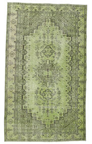 Colored Vintage Rug 148X255 Authentic  Modern Handknotted Light Green/Dark Green (Wool, Turkey)
