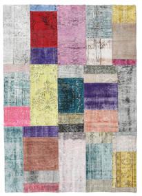 パッチワーク 絨毯 141X200 モダン 手織り ベージュ/薄い灰色 (ウール, トルコ)