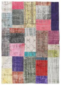 Patchwork Rug 4′8″x6′7″ Authentic  Modern Handknotted Light Grey/Beige (Wool, Turkey)