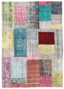 パッチワーク 絨毯 141X200 モダン 手織り 薄い灰色/暗めのベージュ色の (ウール, トルコ)