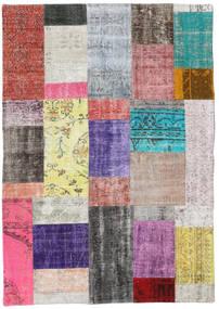 Patchwork Szőnyeg 141X201 Modern Csomózású Világosszürke/Világos Rózsaszín (Gyapjú, Törökország)