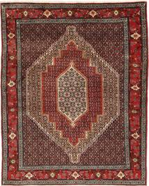 Senneh Matto 127X158 Itämainen Käsinsolmittu Tummanpunainen/Tummanruskea (Villa, Persia/Iran)