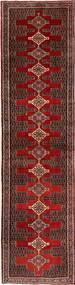Senneh Dywan 97X385 Orientalny Tkany Ręcznie Chodnik Ciemnobrązowy/Jasnobrązowy (Wełna, Persja/Iran)