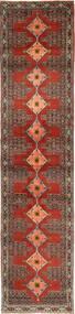 Senneh Dywan 93X412 Orientalny Tkany Ręcznie Chodnik Ciemnobrązowy/Brązowy (Wełna, Persja/Iran)