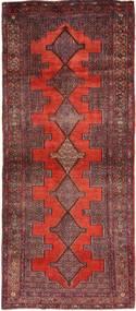 Senneh Matto 119X289 Itämainen Käsinsolmittu Käytävämatto Tummanpunainen/Ruskea (Villa, Persia/Iran)