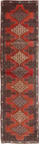 Senneh Teppe 95X355 Ekte Orientalsk Håndknyttet Teppeløpere Mørk Rød/Lysbrun (Ull, Persia/Iran)
