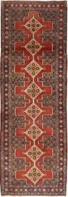 Senneh Matto 92X286 Itämainen Käsinsolmittu Käytävämatto Vaaleanruskea/Tummanruskea (Villa, Persia/Iran)
