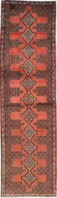 Senneh Rug 87X319 Authentic  Oriental Handknotted Hallway Runner  Dark Red/Dark Brown (Wool, Persia/Iran)